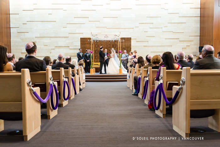 Beth Israel Synagogue wedding ceremony