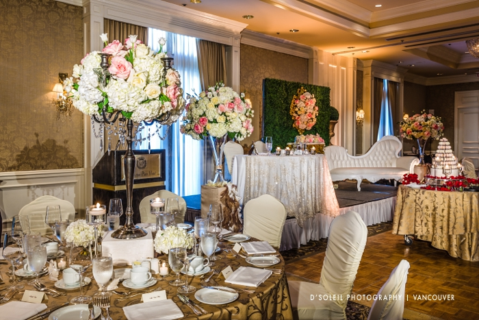 Luxury wedding decor by Roa Floral & Event Design at the Sutton Place Hotel