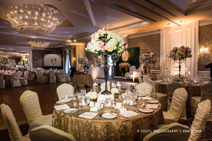 Luxury wedding centrepieces at Sutton Place Hotel