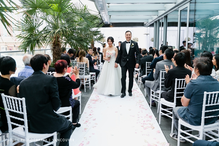 Wedding ceremony recessional Shangri La Hotel