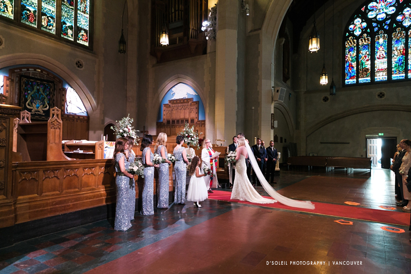 St. Andrew Wesley wedding ceremony in Vancouver