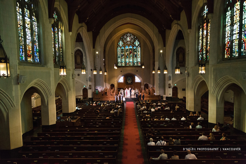 St. Andrew Wesley wedding Vancouver