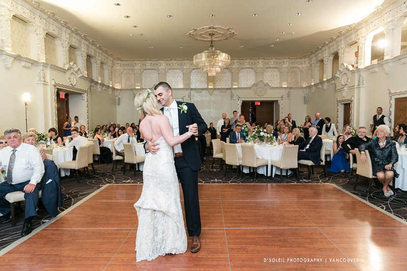 Spanish Ballroom wedding first dance