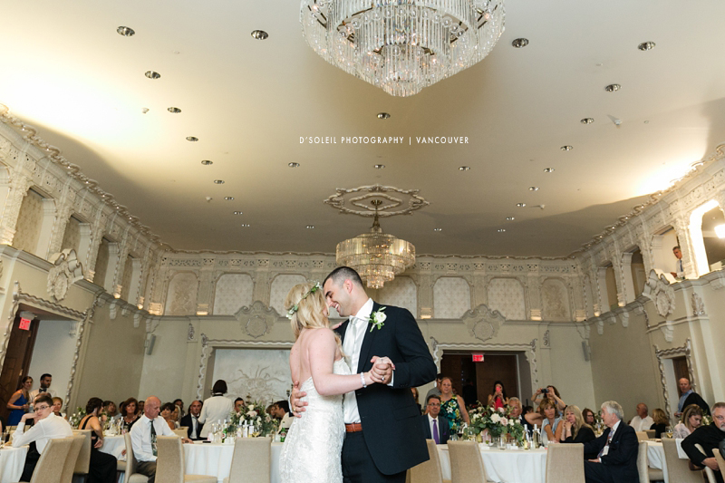 First dance at Hotel Georgia ballroom