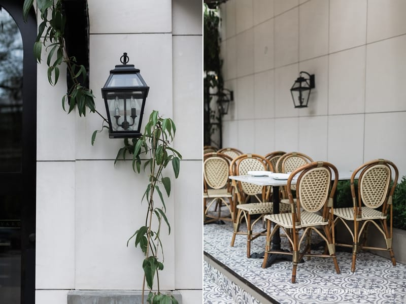 Boulevard Kitchen and Oyster Bar patio at Sutton Place