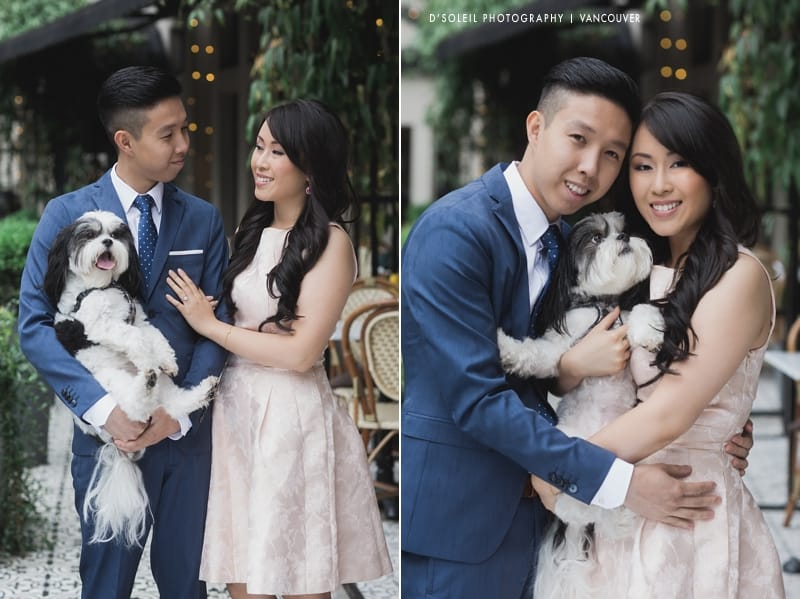 styled wedding engagement session