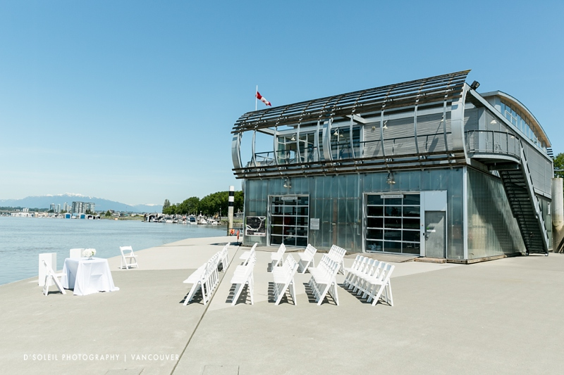 Outdoor wedding at UBC Boathouse in Richmond