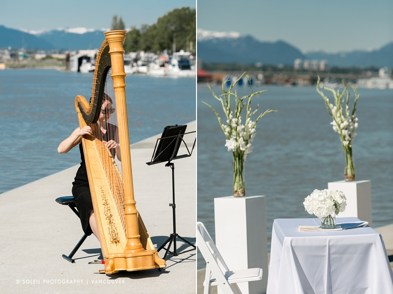 Music harp for weddings