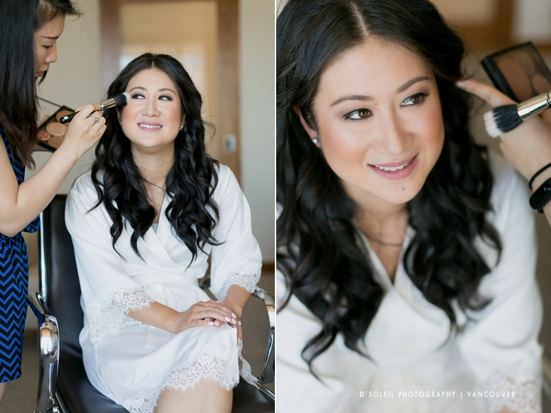 Bride at the Fairmont Pacific Rim Hotel