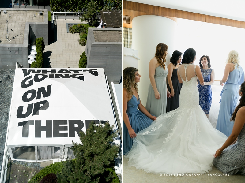 Fairmont Pacific Rim suite for wedding