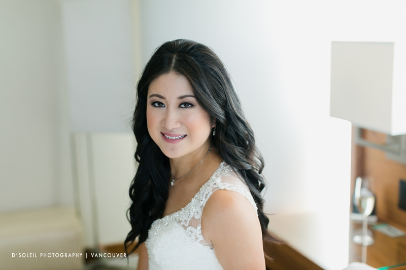 bride portrait at Fairmont Pacific Rim Hotel