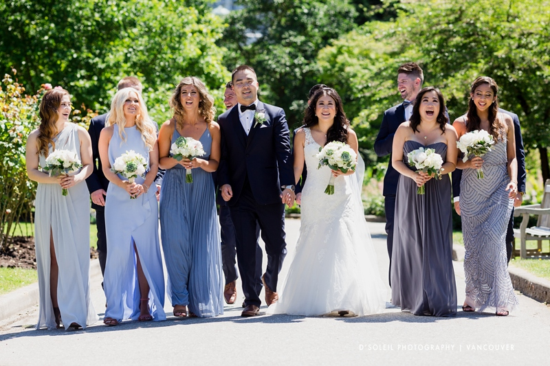 Wedding party at Stanley Park