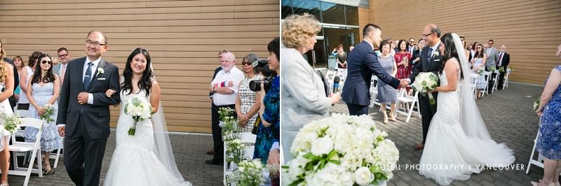 patio wedding ceremony at Vancouver Convention Centre
