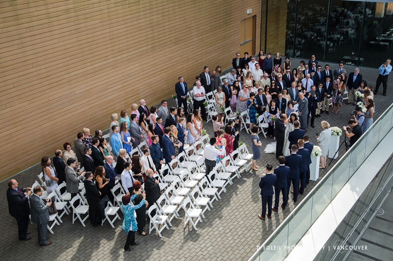 outdoor wedding ceremony at Vancouver Convention Centre