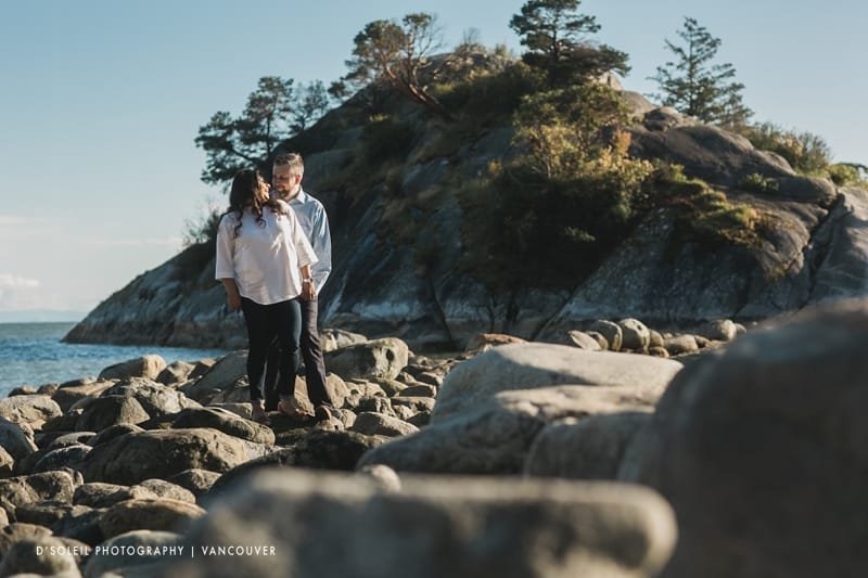 West Vancouver wedding engagement photos