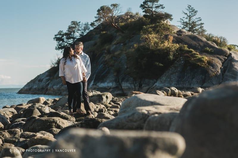 West Vancouver wedding engagement photos
