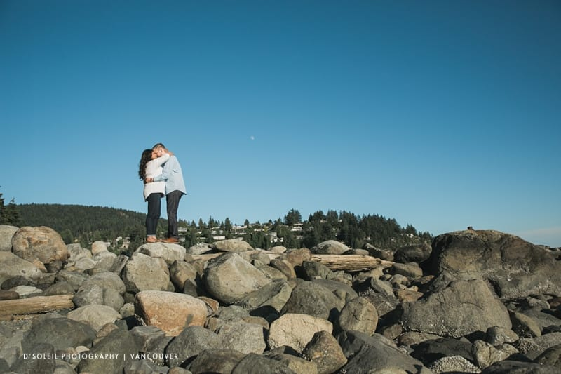 Summer engagement sessions in West Vancouver