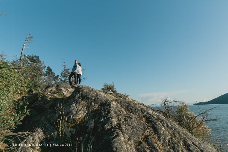 Lighthouse park engagement session photos in West Vancouver