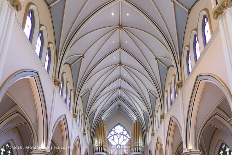 Holy Rosary Cathedral ceiling