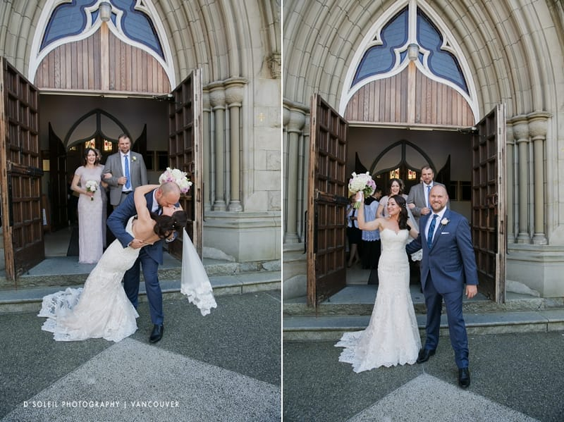 Holy Rosary Cathedral bride and groom