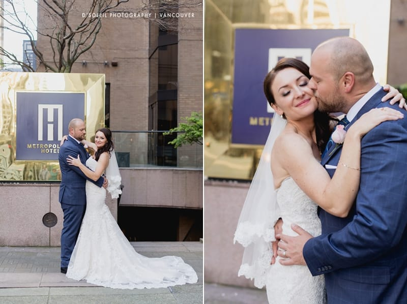 Metropolitan hotel wedding in Vancouver