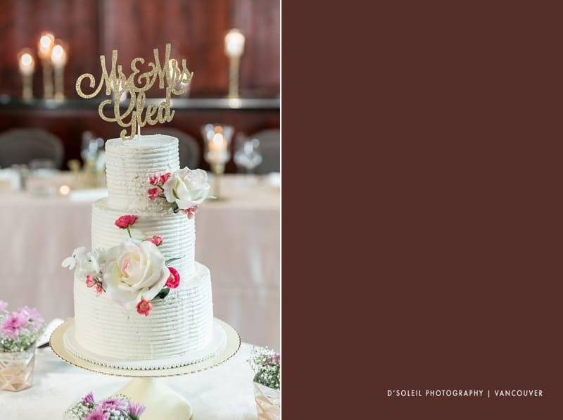 Metropolitan hotel wedding cake