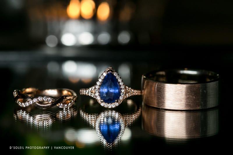 wedding rings blue sapphire
