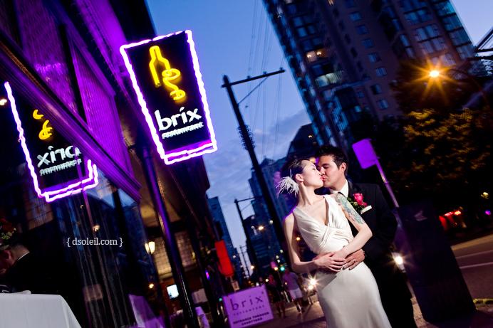 Brix Restaurant wedding photo