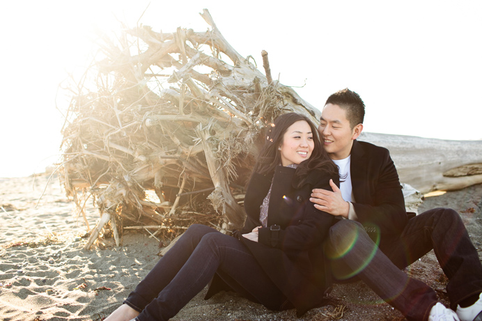 Vancouver beach engagement session (2)