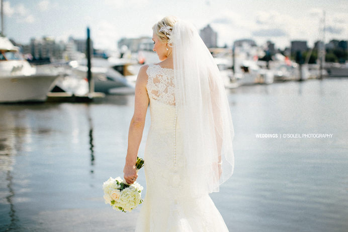 Lace back wedding dress Vancouver