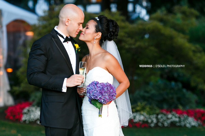 Bride and groom at Brock House Vancouver