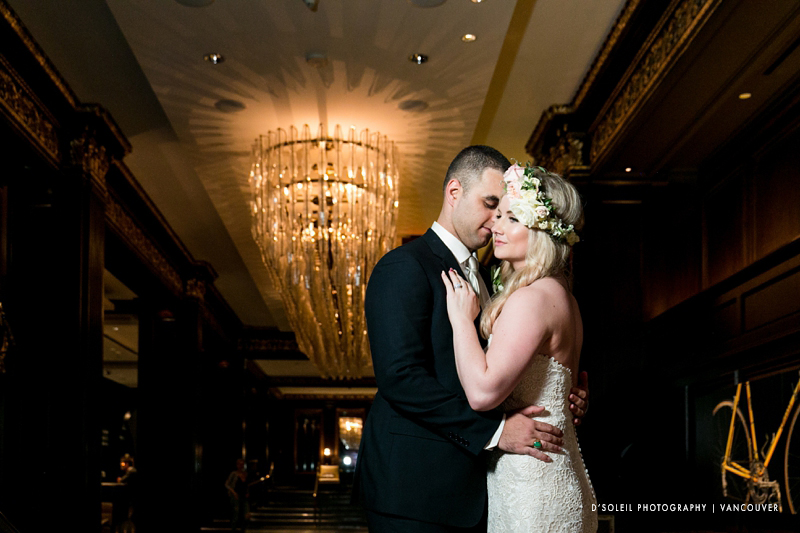 Hotel Georgia lobby wedding photo