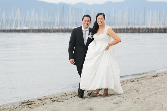 Brock House wedding by Vancouver beach
