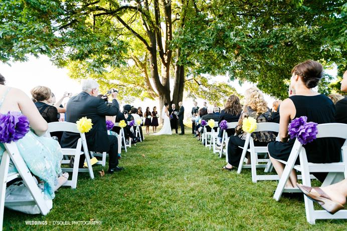 Brock House wedding ceremony