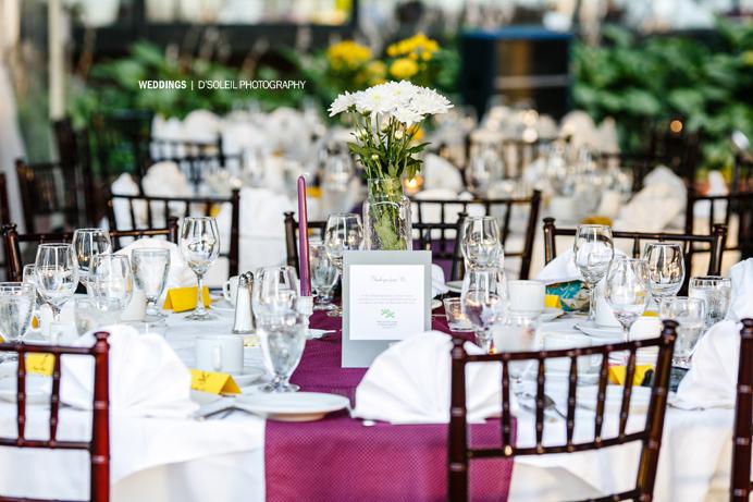 Brock House wedding table decor