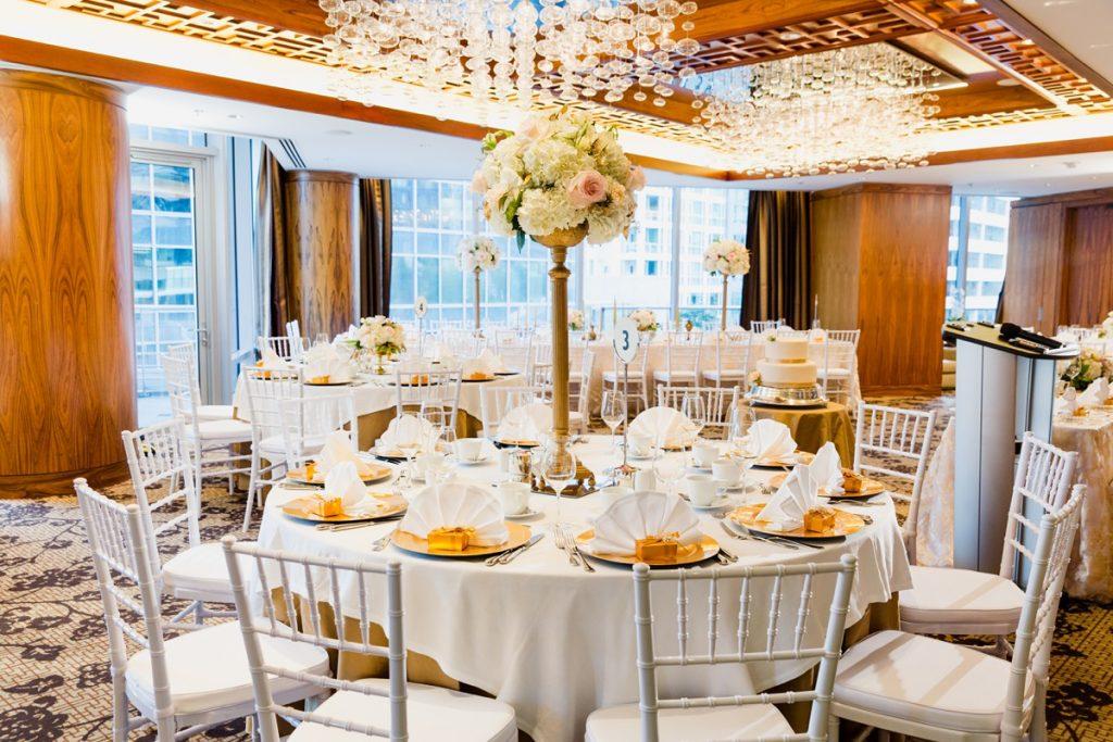 Shangri La Hotel ballroom wedding