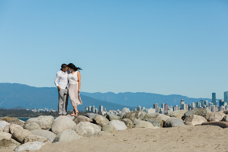 Jericho Beach Engagement wedding photos