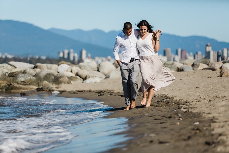 Jericho Beach engagement photos